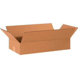 "Flat Cardboard Corrugated Boxes 20"" x 10"" x 4"" 200#/ECT-32 - Pkg Qty 25"