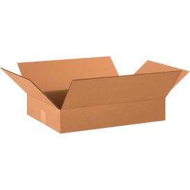 "Flat Cardboard Corrugated Boxes 20"" x 14"" x 3"" 200#/ECT-32 - Pkg Qty 25"