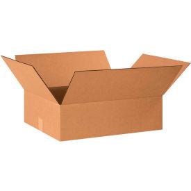 "Flat Cardboard Corrugated Boxes 20"" x 16"" x 6"" 200#/ECT-32 - Pkg Qty 25"