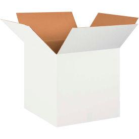"Cardboard Corrugated Boxes 20"" x 20"" x 20"" 200#/ECT-32, White - Pkg Qty 10"