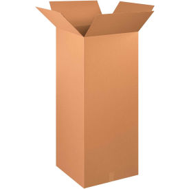 "Tall Cardboard Corrugated Boxes 20"" x 20"" x 48"" 200#/ECT-32 - Pkg Qty 10"