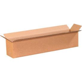 "Long Cardboard Corrugated Boxes 20"" x 4"" x 4"" 200#/ECT-32 - Pkg Qty 25"