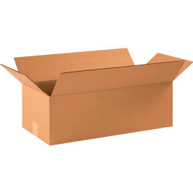 "Flat Cardboard Corrugated Boxes 22"" x 10"" x 6"" 200#/ECT-32 - Pkg Qty 25"