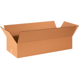 "Flat Cardboard Corrugated Boxes 24"" x 10"" x 4"" 200#/ECT-32 - Pkg Qty 25"