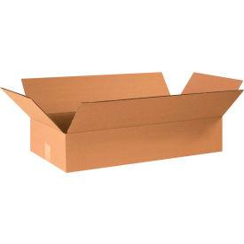 "Flat Cardboard Corrugated Boxes 24"" x 12"" x 4"" 200#/ECT-32 - Pkg Qty 25"