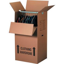 "Wardrobe Packing Cardboard Corrugated Boxes 24"" x 20"" x 46"" 275#/ECT-48 - Pkg Qty 5"