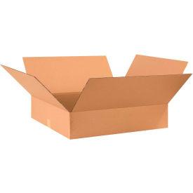 "Flat Cardboard Corrugated Boxes 28"" x 24"" x 6"" 200#/ECT-32 - Pkg Qty 10"