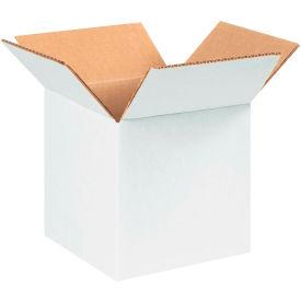 "Cardboard Corrugated Boxes 5"" x 5"" x 5"" 200#/ECT-32, White - Pkg Qty 25"