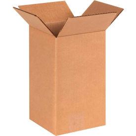 "Tall Cardboard Corrugated Boxes 6"" x 6"" x 10"" 200#/ECT-32 - Pkg Qty 25"