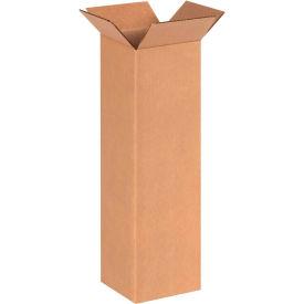 "Tall Cardboard Corrugated Boxes 6"" x 6"" x 20"" 200#/ECT-32 - Pkg Qty 25"