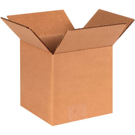 "Cube Cardboard Corrugated Boxes 6"" x 6"" x 6"" 200#/ECT-32 - Pkg Qty 25"
