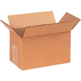 "Cardboard Corrugated Boxes 7"" x 4"" x 4"" 200#/ECT-32 - Pkg Qty 25"