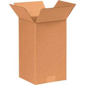 "Tall Cardboard Corrugated Boxes 7"" x 7"" x 12"" 200#/ECT-32 - Pkg Qty 25"