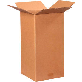 "Tall Cardboard Corrugated Boxes 9"" x 9"" x 18"" 200#/ECT-32 - Pkg Qty 25"