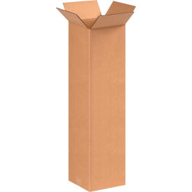 "Tall Cardboard Corrugated Boxes 9"" x 9"" x 30"" 200#/ECT-32 - Pkg Qty 25"