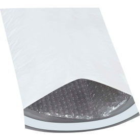 "Bubble Lined Poly Mailers #2, 8-1/2"" x 12"" White, 25 Pack"