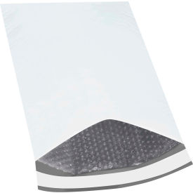"Bubble Lined Poly Mailers #2, 12-1/2"" x 19"" White, 50 Pack"