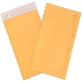 """Self-Seal Bubble Mailers with Tear Strip #00, 5"""" x 10"""" Golden Kraft, 25 Pack"""