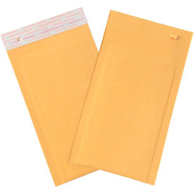 "Self-Seal Bubble Mailers with Tear Strip #0, 6"" x 10"" Golden Kraft, 25 Pack"