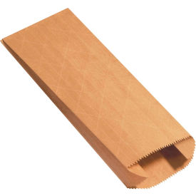 """Gusseted Nylon Reinforced Mailers #4G, 4"""" x 2"""" x 10"""" Kraft, 1000 Pack"""
