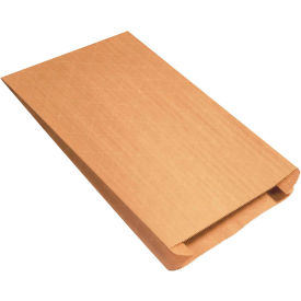 """Gusseted Nylon Reinforced Mailers #12G, 12-1/2"""" x 4"""" x 20"""" Kraft, 250 Pack"""