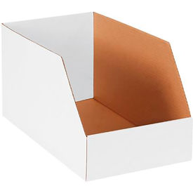 "10"" x 18"" x 10"" Jumbo Open Top White Corrugated Boxes - Pkg Qty 25"