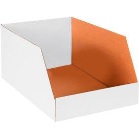 "16"" x 24"" x 12"" Jumbo Open Top White Corrugated Boxes - Pkg Qty 25"