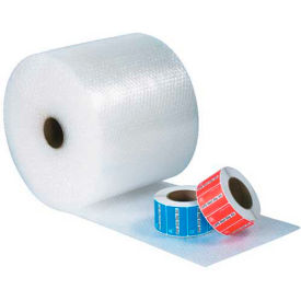"""UPSable Bubble Rolls 24"""" x 125' x 1/2"""", Non-Perforated, Clear, 2/PACK"""