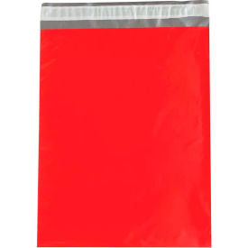 "Colored Poly Mailers 12"" x 15-1/2"", 2.5 Mil Red, 100 Pack"