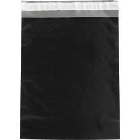 """Colored Poly Mailers 14-1/2"""" x 19"""", 2.5 Mil Black, 100 Pack"""
