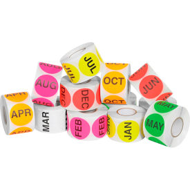 """2"""" Circle Easy Order Months Of The Year Packs 500 Labels Per Roll 12 Rolls by"""
