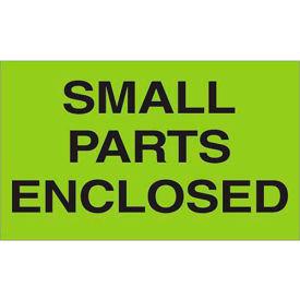 """Small Parts Enclosed 3"""" x 5"""" Labels Green 500 Per Roll"""