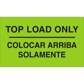 """Top Load Only 3"""" x 5"""" Bilingual Labels Fluorescent Green 500 Per Roll"""