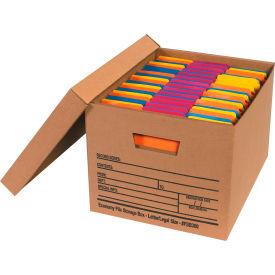 "Economy File Storage Box w/Lid FSB300 Letter/Legal 15""L x 12""W x 10""H Kraft Price Each - Pkg Qty 12"