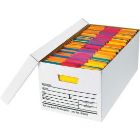 "Auto-Lock File Storage Box FSB440 - Letter 24""L x 12""W x 10""H - White - Price Each - Pkg Qty 12"