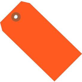 "Plastic Shipping Tag 4-3/4"" x 2-3/8"" Orange - 100 Pack"