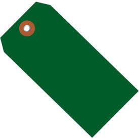 "Plastic Shipping Tag 4-3/4"" x 2-3/8"" Green - 100 Pack"