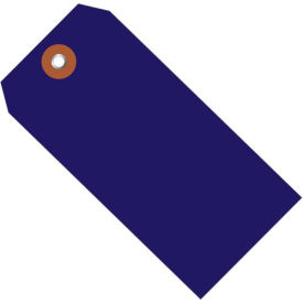 """Plastic Shipping Tag 4-3/4"""" x 2-3/8"""" Blue - 100 Pack"""