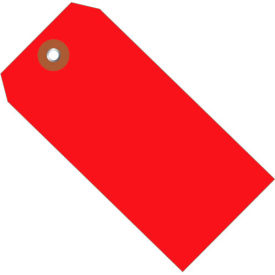 """Plastic Shipping Tag 4-3/4"""" x 2-3/8"""" Red - 100 Pack"""