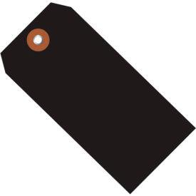 "Plastic Shipping Tag 6-1/4"" x 3-1/8"" Black - 100 Pack"