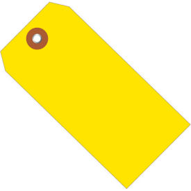 "Plastic Shipping Tag 6-1/4"" x 3-1/8"" Yellow - 100 Pack"