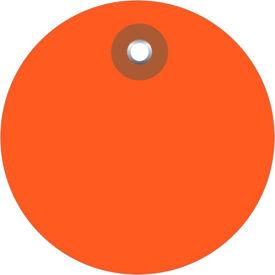"""Plastic Circle Tags 2"""" Diamter Orange - 100 Pack"""