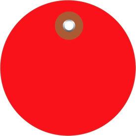 """Plastic Circle Tags 3"""" Diamter Red - 100 Pack"""