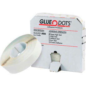 "1/2"" Medium Tack Glue Dots Low Profile by"