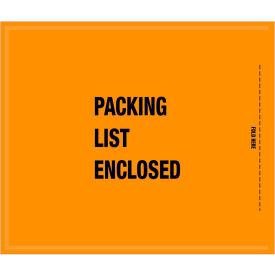 "Full Face Mil/Spec Envelopes - ""Packing List Enclosed"" 8-1/2 x 10"" Orange - 1000/Case"