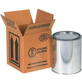 "One - 1 Quart Haz Mat Boxes, 4-7/16"" x 4-7/16"" x 5"", 25/Pack"