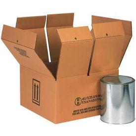 """Four - 1 Gallon Haz Mat Boxes, 14-1/4"""" x 14-1/4"""" x 7-5/8"""", 10/Pack"""