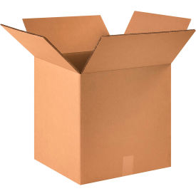 "Heavy-Duty Double Wall Cardboard Corrugated Boxes 16"" x 16"" x 16"" 275#/ECT-48 - Pkg Qty 15"