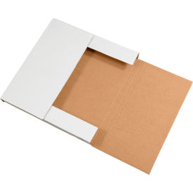 """Easy-Fold Corrugated Mailers 10-1/4"""" x 10-1/4"""" x 1"""" 200#/ECT-32 White - Pkg Qty 50"""