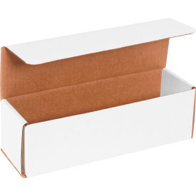 """Corrugated Mailers 10"""" x 3"""" x 3"""" 200#/ECT-32 White - Pkg Qty 50"""